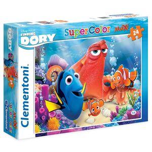 Giocattolo Puzzle Maxi 24 pezzi Alla Ricerca di Dory. Friends Make Life Colourful Clementoni 1
