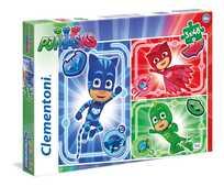 Giocattolo Puzzles 3x48 pezzi Super Pigiamini. Pj Masks Clementoni