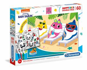 Clementoni 26094 Supercolor Puzzle Baby Shark Double Face Coloring 60 Pezzi Made In Italy Puzzle Bambini Da Colorare 5 Anni Clementoni Puzzle Per Bambini Giocattoli Ibs