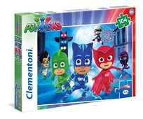 Giocattolo Puzzle 104 pezzi Super Pigiamini. Pj Masks Clementoni