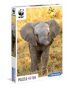 Puzzle 104 pezzi WWF. Little Elephant