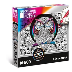 Puzzles 500 Pezzi Colour Therapy. Owl. Clementoni (35050)