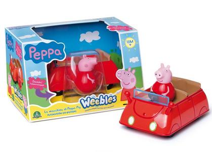 Giocattolo Peppa Pig. Weebles. Macchina sempre in piedi Giochi Preziosi 0