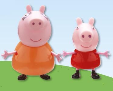 Coppia personaggi Mamma Pig e Peppa
