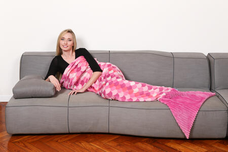 Coperta Kanguru Sirena Pink. Lilla