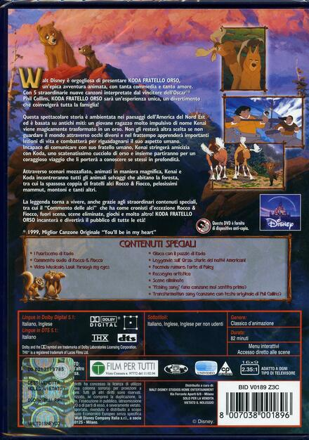 Koda fratello orso dvd film di aaron blaise robert walker
