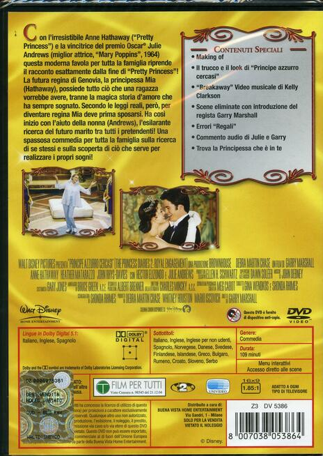 Principe azzurro cercasi di Garry Marshall - DVD - 2