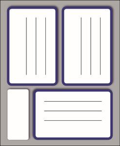Etichette bianche con righe bordate Markin formato 83 x 53 mm. Confezione 10 buste da 10 fogli