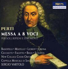 Messa a 8 Voci - Cantate Morali e Spirituali - CD Audio di Giacomo Antonio Perti