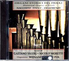 Musiche per organo - CD Audio di Gaetano Valerj,Niccolò Moretti