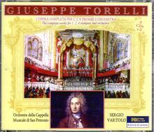 L'opera completa per 1, 2, 4 trombe e orchestra - CD Audio di Giuseppe Torelli