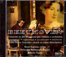 12 Danze tedesche - Concerto per violino e orchestra - CD Audio di Ludwig van Beethoven