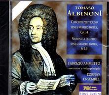 Concerti per violino senza numero d'opus - Sinfonie a quattro senza numero d'opus - CD Audio di Tomaso Giovanni Albinoni