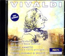 Concerti e Sinfonie per archi e basso continuo - CD Audio di Antonio Vivaldi