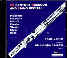 Fagotto e pianoforte nel XX secolo - CD Audio