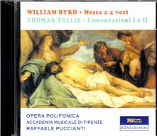 Messa a 4 voci / Lamentazioni I, II - Miserere Nostri - CD Audio di William Byrd,Thomas Tallis