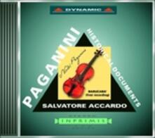 Historical Documents - CD Audio di Niccolò Paganini,Salvatore Accardo