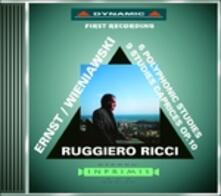 Studi per violino solo - CD Audio di Ruggiero Ricci,Henryk Wieniawski,Heinrich Wilhelm Ernst