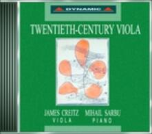 Musica per viola e pianoforte del ventesimo secolo - CD Audio