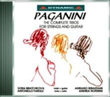 Trii per archi e chitarra - CD Audio di Niccolò Paganini