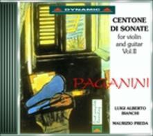 Centone di sonate per violino e chitarra vol.2 - CD Audio di Niccolò Paganini,Luigi Alberto Bianchi,Maurizio Preda