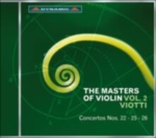 The Master of Violin vol.2 - CD Audio di Giovanni Battista Viotti,Franco Mezzena