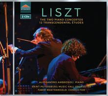 Concerto per pianoforte n.1, n.2 - Studi trascendentali - CD Audio di Franz Liszt,Alessandro Ambrosoli