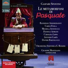 Le Metamorfosi di Pasquale - CD Audio di Gaspare Spontini