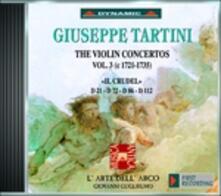 Concerti per violino vol.3 - CD Audio di Giuseppe Tartini,L' Arte dell'Arco,Giovanni Guglielmo