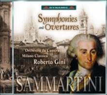 Sinfonie - Overtures - CD Audio di Giovanni Battista Sammartini,Roberto Gini