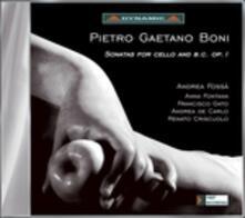 Sonate per violoncello e basso continuo op.1 - CD Audio di Pietro Giuseppe Gaetano Boni