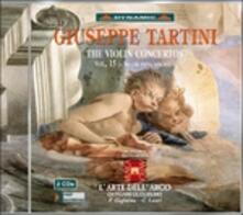 Concerti per violino vol.15 - CD Audio di Giuseppe Tartini,L' Arte dell'Arco,Giovanni Guglielmo