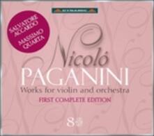 Musica per violino e orchestra completa - CD Audio di Niccolò Paganini