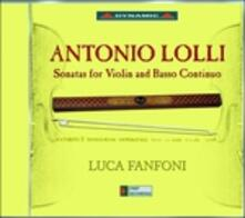 Sonate per violino e basso continuo - CD Audio di Antonio Lolli,Luca Fanfoni