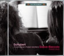 Opere per pianoforte a 4 mani - CD Audio di Franz Schubert