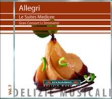 Le suites medicee - CD Audio di Gregorio Allegri