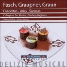 Concerti - Arie - Sonate - CD Audio di Johann Friedrich Fasch,Johann Christoph Graupner,Carl Heinrich Graun,Collegium Pro Musica