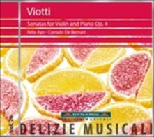 Sonate per violino op.4 - CD Audio di Felix Ayo,Giovanni Battista Viotti