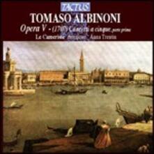 Concerti a cinque op.5 parte prima - CD Audio di Tomaso Giovanni Albinoni