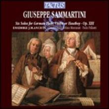 6 Sonate per flauto, violino e oboe - CD Audio di Giuseppe Sammartini