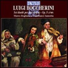 6 duetti per due violini op.5 - CD Audio di Luigi Boccherini