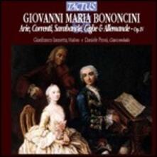 Arie - Correnti - Sarabande - Gighe - CD Audio di Giovanni Battista Bononcini
