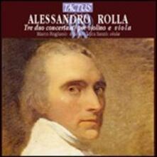 3 Duetti concertanti per violino e viola - CD Audio di Alessandro Rolla