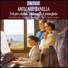 Trii per violino, violoncello e pianoforte - CD Audio di Amilcare Zanella