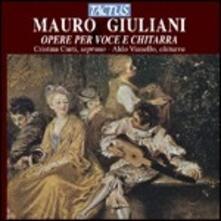 Opere per voce e chitarra - CD Audio di Mauro Giuliani