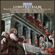 Psalmi ad Vesperas vol.2 - CD Audio di Ludovico Balbi