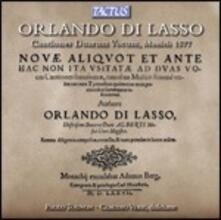 Cantiones Duarum Vocum 1577 - CD Audio di Orlando Di Lasso,Paolo Tognon,Claudio Verh