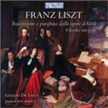 Trascrizioni e parafrasi da Verdi - CD Audio di Franz Liszt,Giulio De Luca