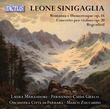 Romanza - Humoresque op.16 - Concerto per violino - CD Audio di Leone Sinigaglia,Laura Marzadori
