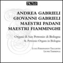 Maestri padani, maestri fiamminghi. Opere per organo - CD Audio di Giovanni Gabrieli,Andrea Gabrieli